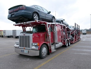 Loaded Open Car Carrier